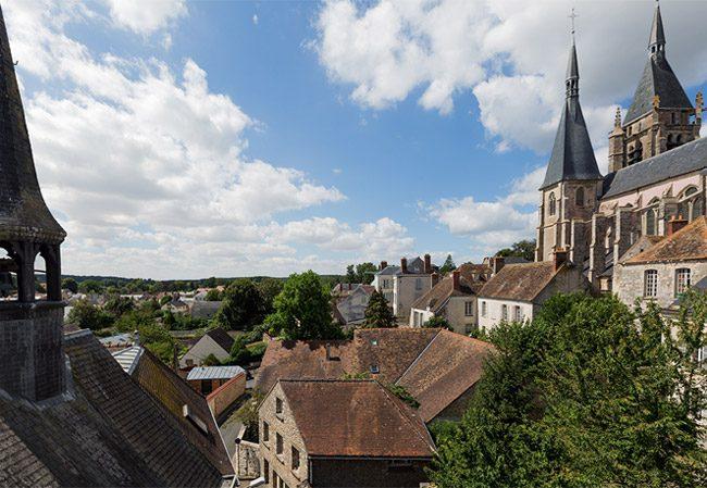 Vue toits de Dourdan - Blanche de Castille Dourdan